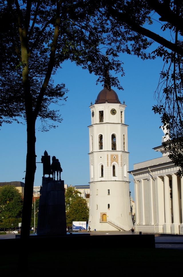 The Clock Tower with Statue of Gediminas