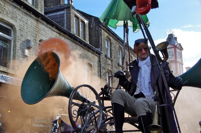 """The strange """"wheely contraption"""" bellowing smoke"""