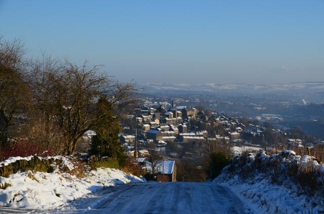 Looking down on Huddersfield