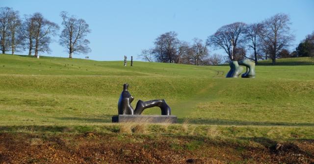 View of the Henry Moor Sculptures