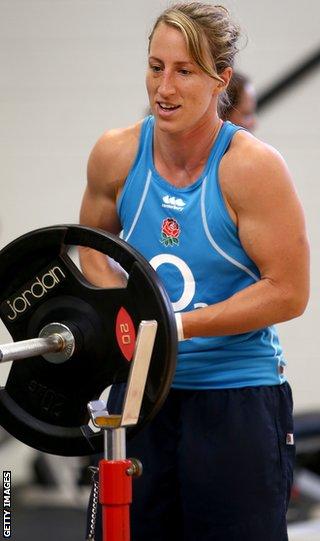 Katherine Merchant weight training