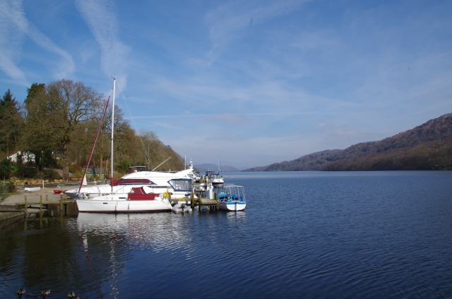 "View along Lake Windermere from ""Lakeside"""