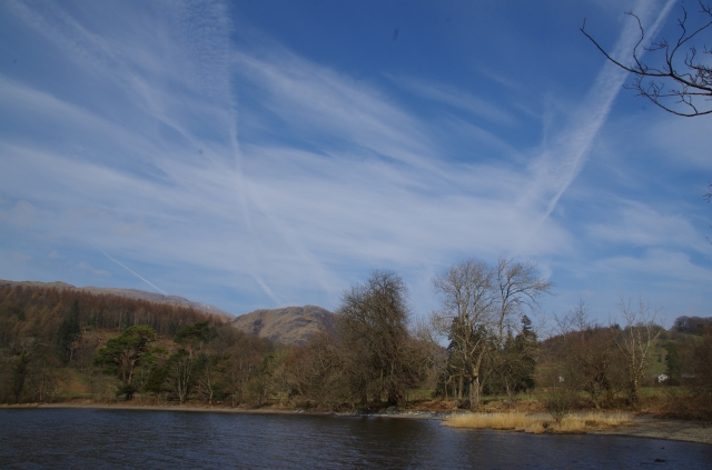 Whispy clouds over Coniston Water