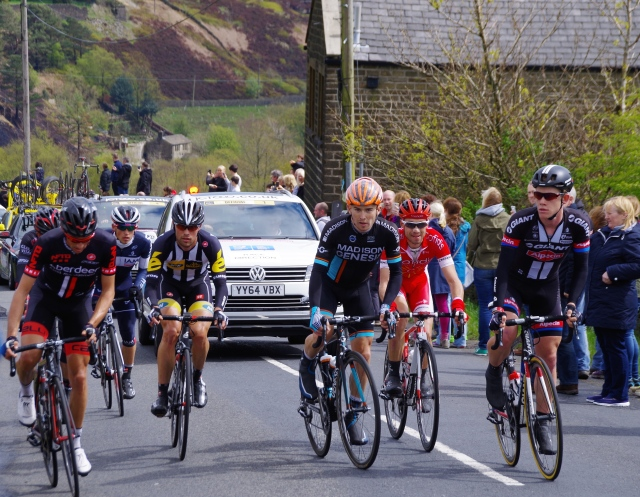 The breakaway group of riders