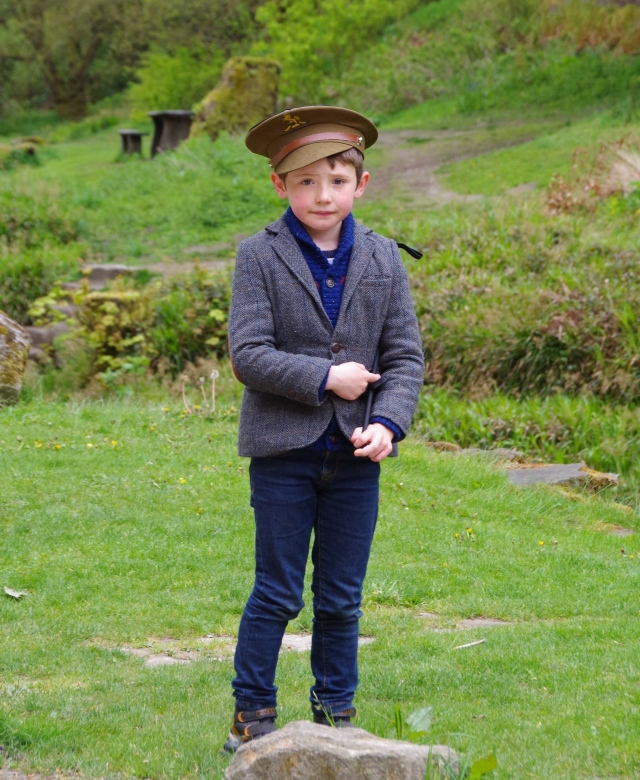 Young gentleman out for a walk................