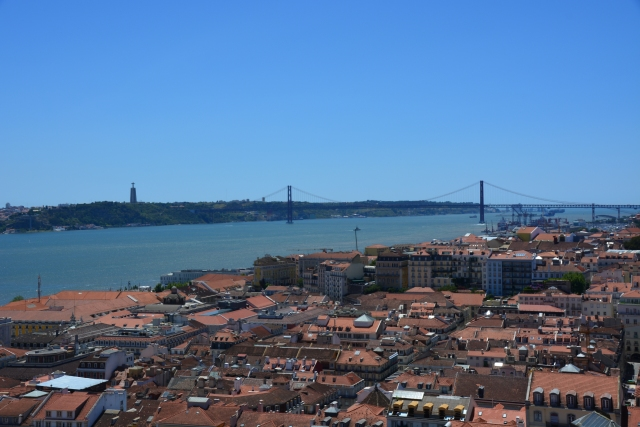 View from the castle across the River Tagus