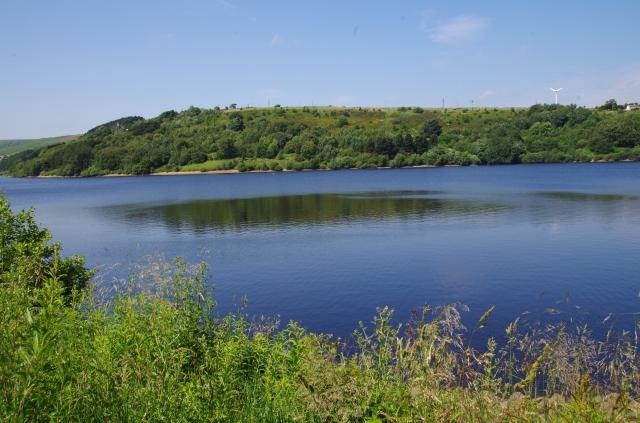 View across the reservoir