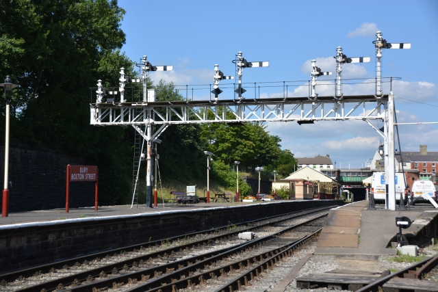 Gateway to Bury Station and start of the journey