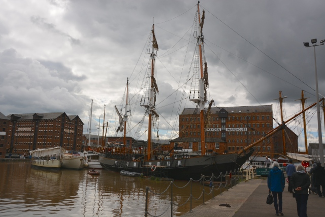 Fitting out at Gloucester docks