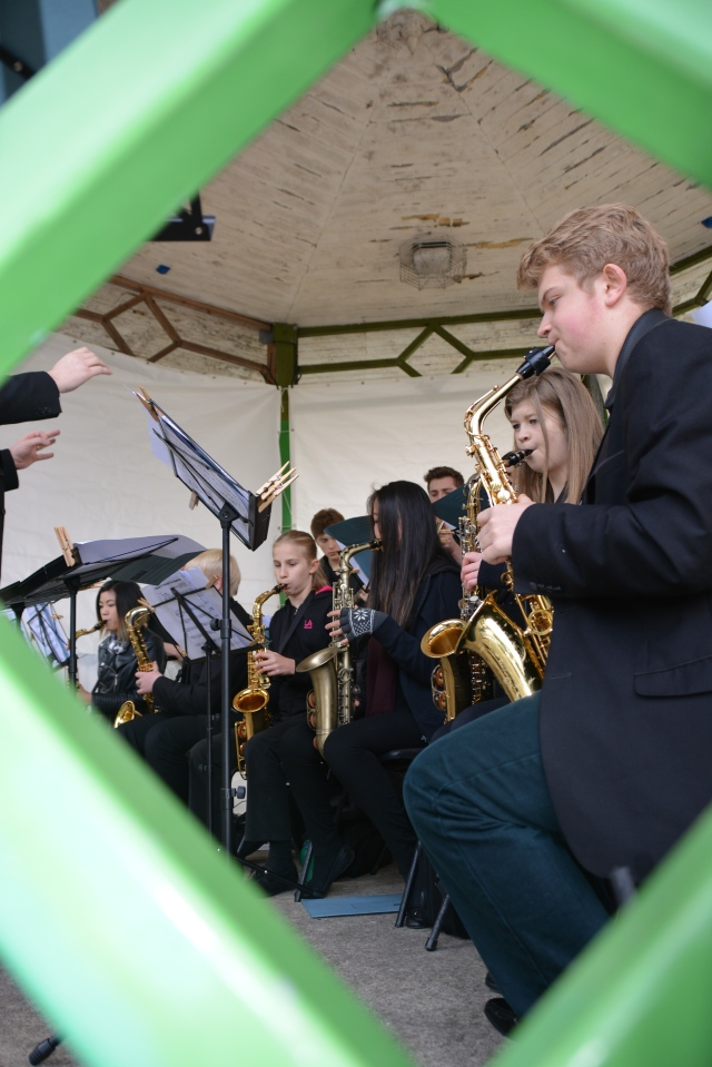 Sneek a peek at the sax section