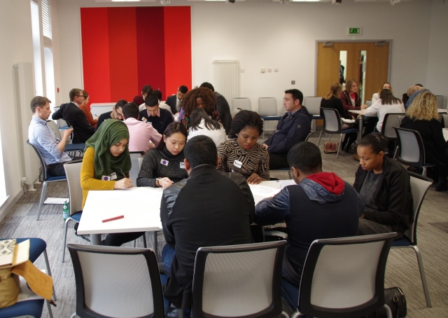 Groups work individually to develop a set of questions