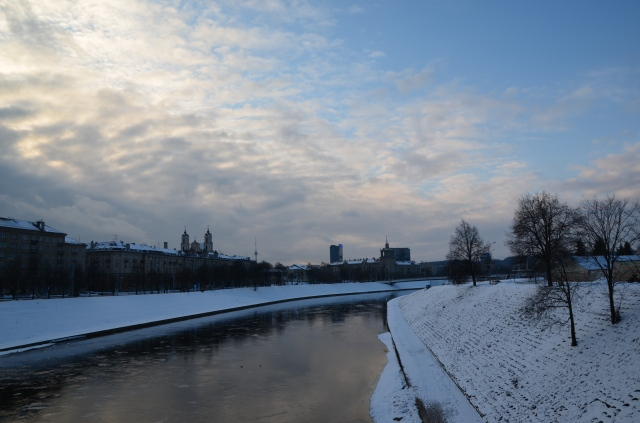 River Neris on a cold winters day
